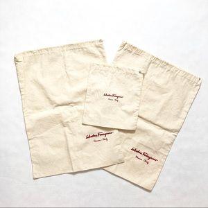 New Salvatore Ferragamo Dust Bag Set